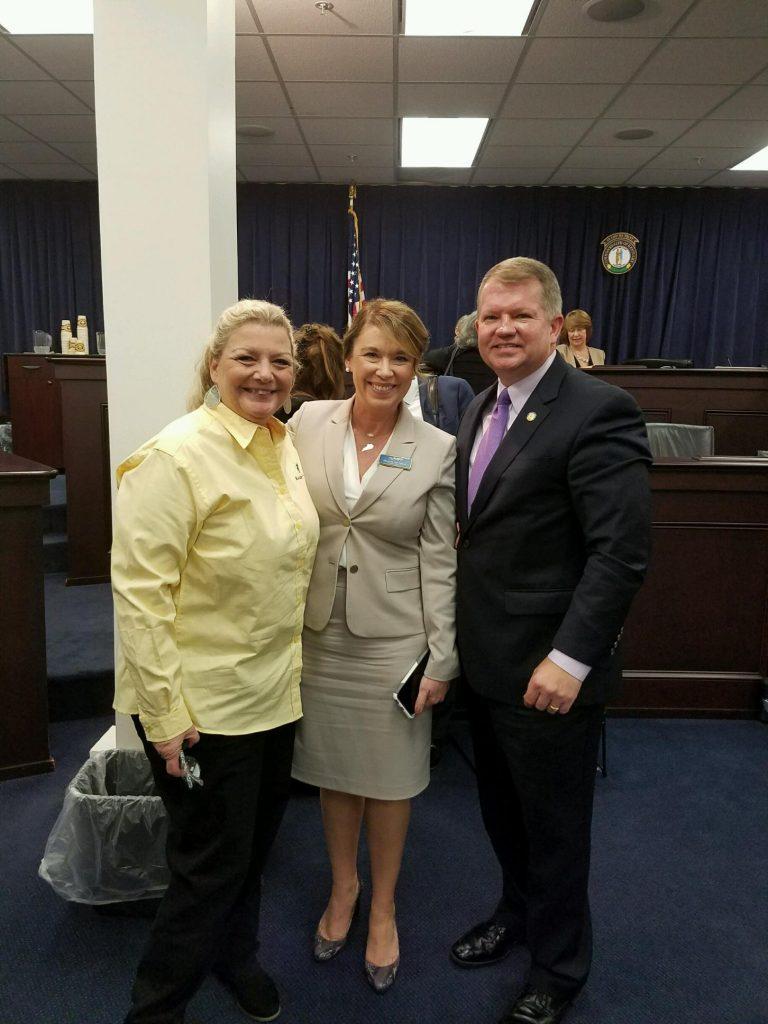 Betsy, Shannon & Sen. Danny Carroll